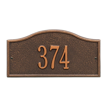 Personalized Whitehall Products™ Rolling Hills 1-Line Mini Wall Address Plaque in Antique Copper ()