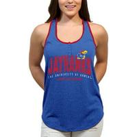 Kansas Jayhawks Choppy Arch Women'S/Juniors Team Tank Top
