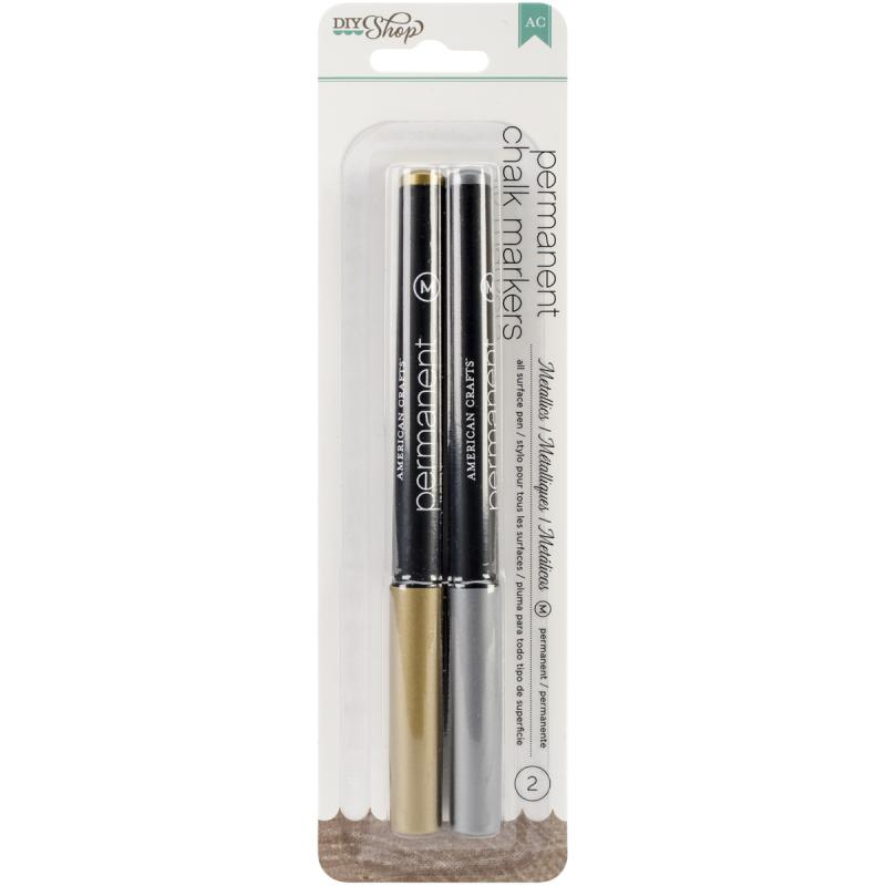 American Crafts DIY Shop Chalk Permanent Markers 5-Pack