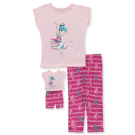 3650762f2166 Komar Kids - Girls  2-Piece Pajamas With Doll Outfit - Walmart.com