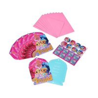 Shimmer and Shine Birthday Party Invite Postcards, 8ct