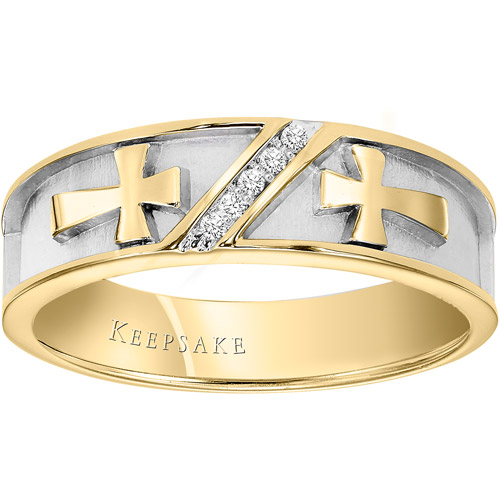 Keepsake Faithful King 1 20 Carat T.W. Certified Diamond 10kt Yellow Gold Wedding Band by Frederick Goldman Inc.