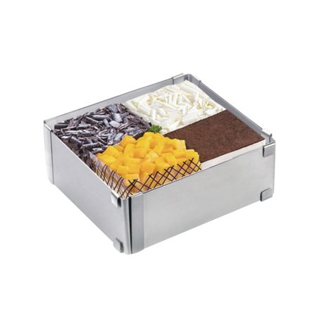 Cake Mold Stainless Steel Adjustable Square Cake Ring Mold Multi-Function Cake Mousse Ring Cutter Mold for Baking - image 2 of 4