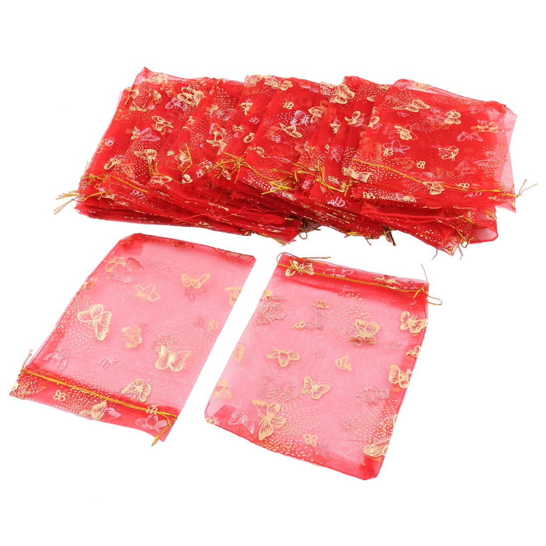 jewelry pouches gift organza bags 50 pcs