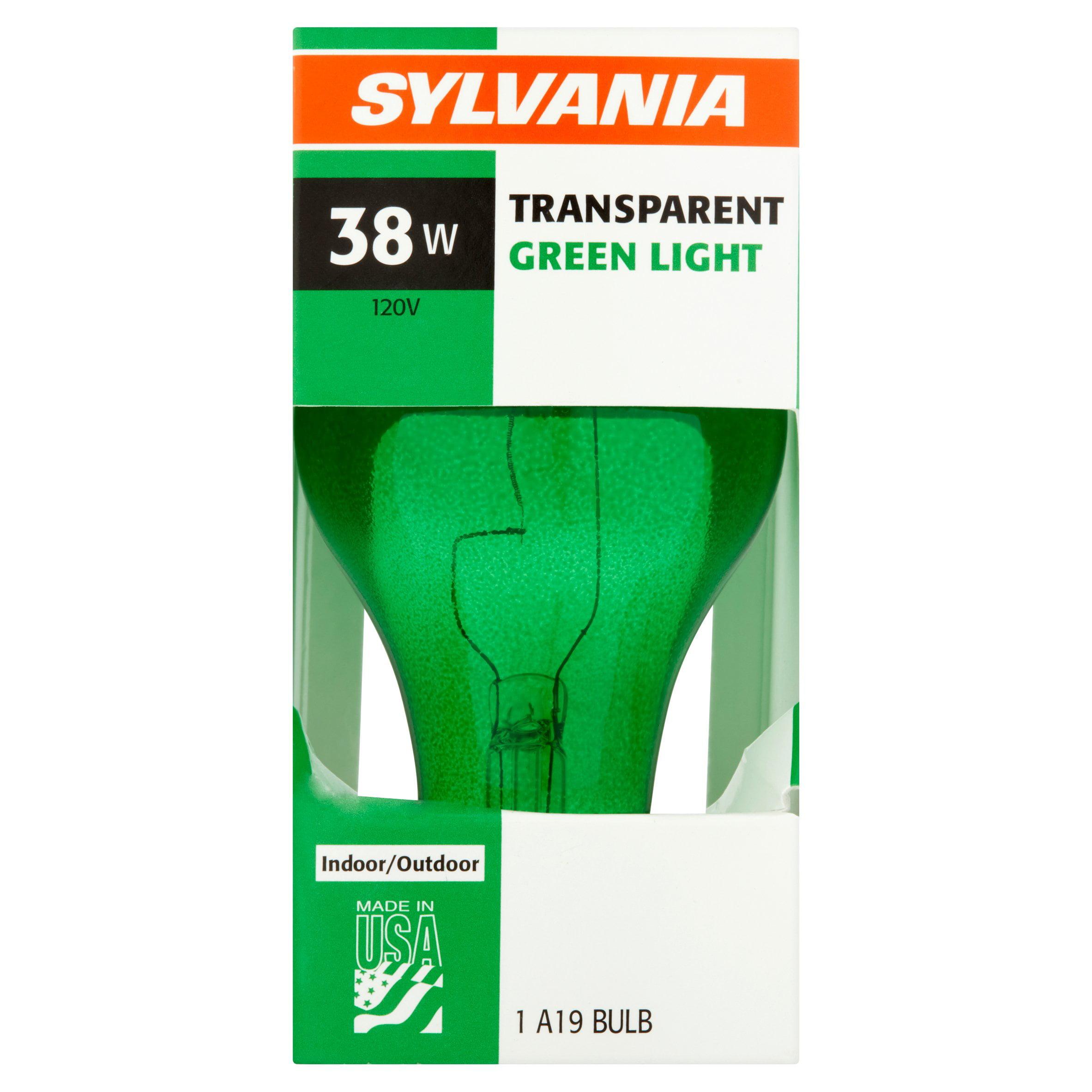 Sylvania Light Bulb, 38W, Transparent Green