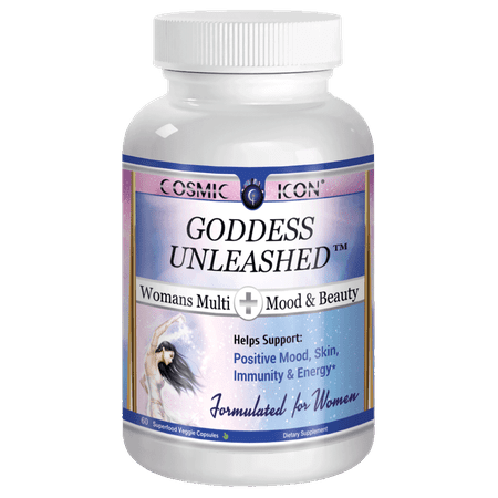 Goddess Unleashed Mood & Beauty Best Daily Women's Multivitamin Natural Female