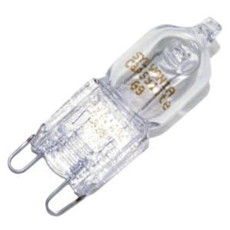 500 Base Unit - 40 watt; Halogen; T4; Clear; 2000 Average rated Hours; 500 Lumens; Double Loop base; 120 volts