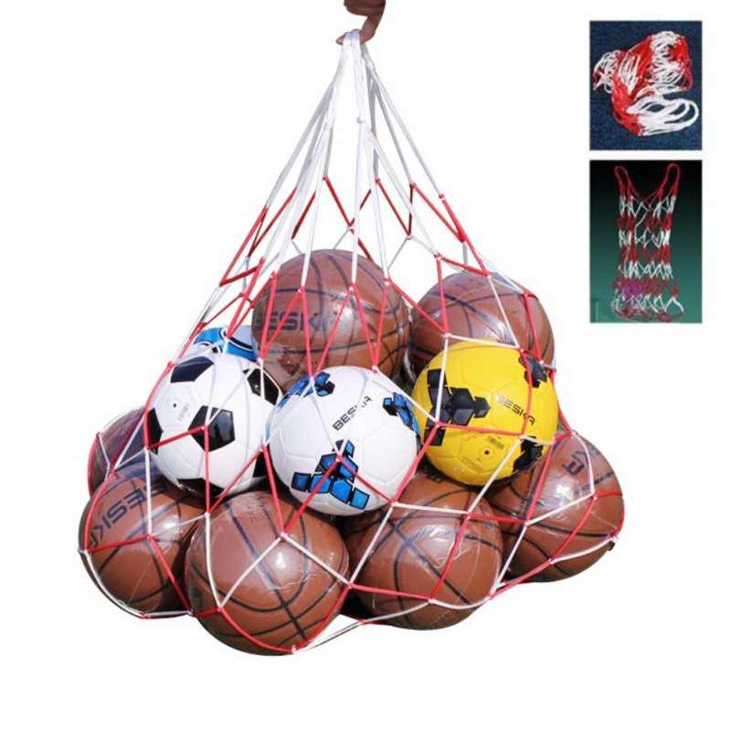 Just E Joy Extra Large Mesh Ball Carry Bag w//Drawstring Waterproof Oxford Cloth Shoulder Backpack Holds 15 Balls for Football Soccer Volleyball Basketball Rugby