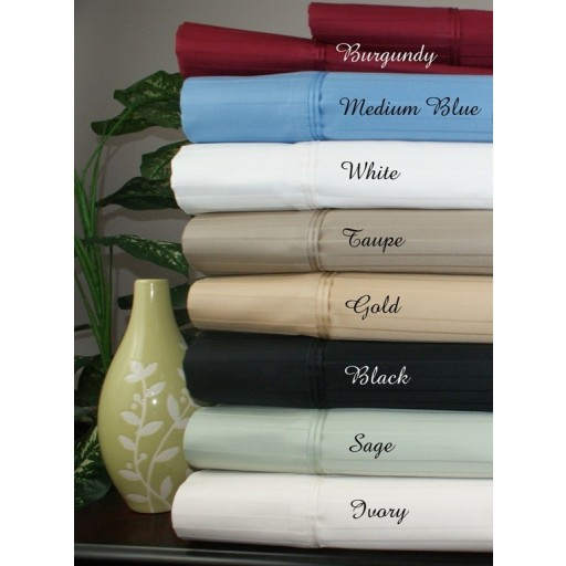 1000TC Striped Cal King Egyptian Cotton Waterbed Sheets-Unattached
