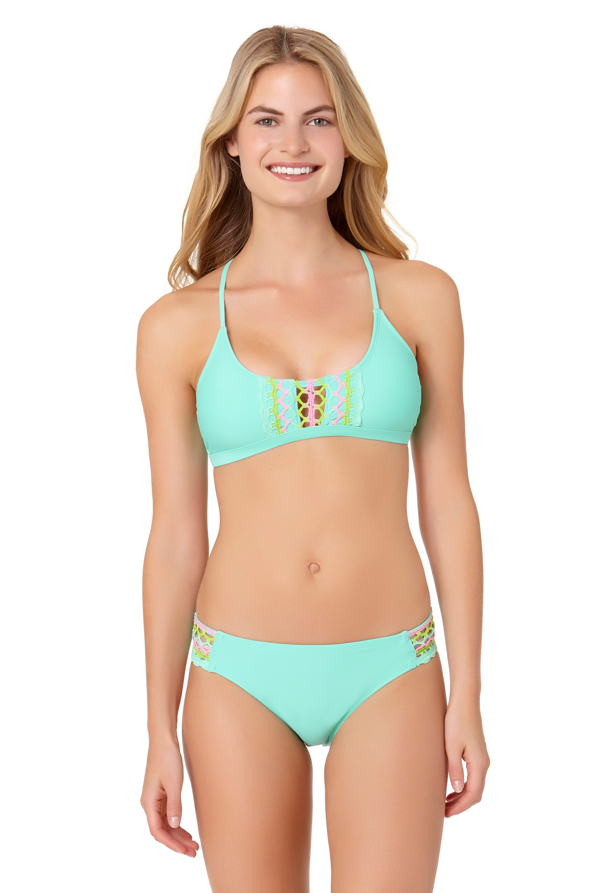 InMocean Juniors Lacer Tag Strappy Side Hipster Swim Bottom