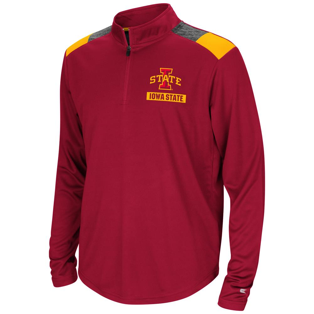 Iowa State Cyclones Youth Boys 1/4 Zip 99 Yards Pullover