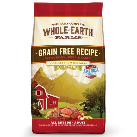 Whole Earth Farms Grain-Free Pork, Beef & Lamb Recipe Dry Dog Food, 25 (The Biggest Dog In The Whole Wide World)