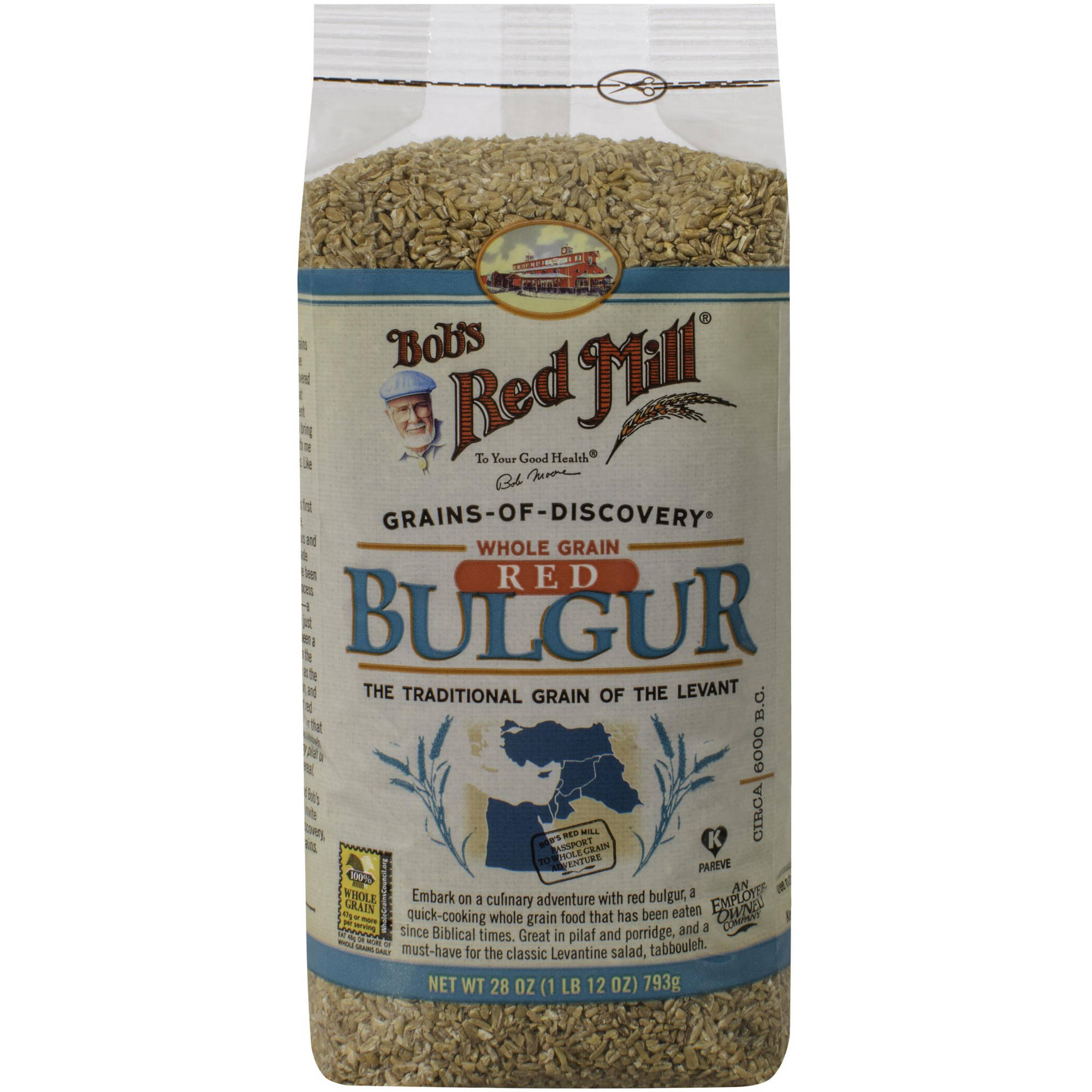 Bob's Red Mill Whole Grain Bulgur Cracked Wheat, 28 oz, (Pack of 4)