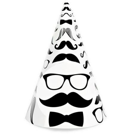 Birthday Express 237359 Mustache Cone Hats
