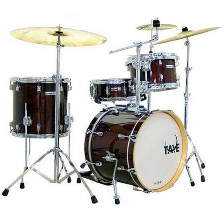 Taye SM418BP-SPK-CW 4 Piece StudioMaple BeBop Drum Shell Pack, Classic Walnut 4 Piece Drum Shell