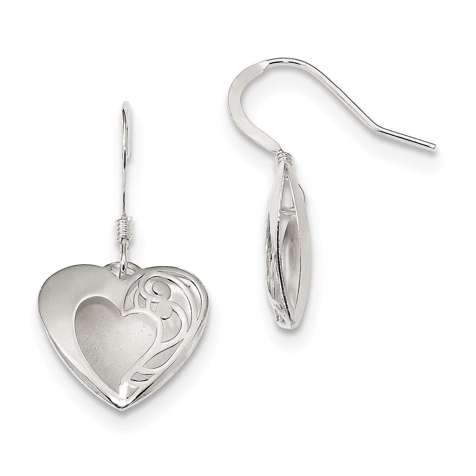925 Sterling Silver Drop Dangle Chandelier Earrings Pendant Charm Necklace Set Love Fine Jewelry Gifts For Women For Her - image 1 de 4