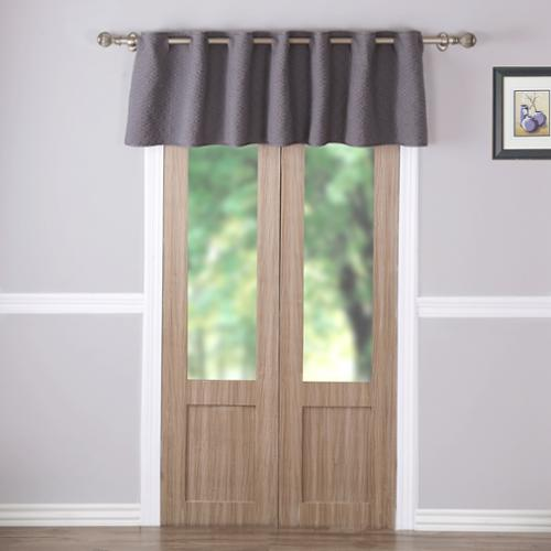 Greenland Home Fashions Vashon Grey Quilted Window Valance
