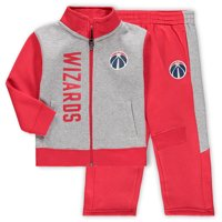 Washington Wizards Toddler On The Line Fleece Jacket & Pants Set - Gray/Red