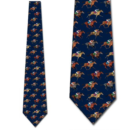 Horse Ties Mens Equestrian Navy Sports Necktie by Three Rooker