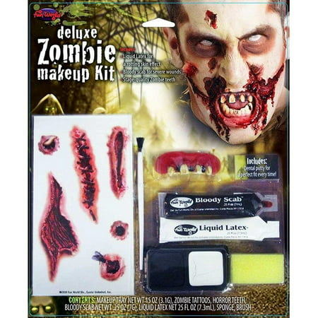 Zombie Deluxe Kit Halloween - Halloween Makeup Tips Cuts