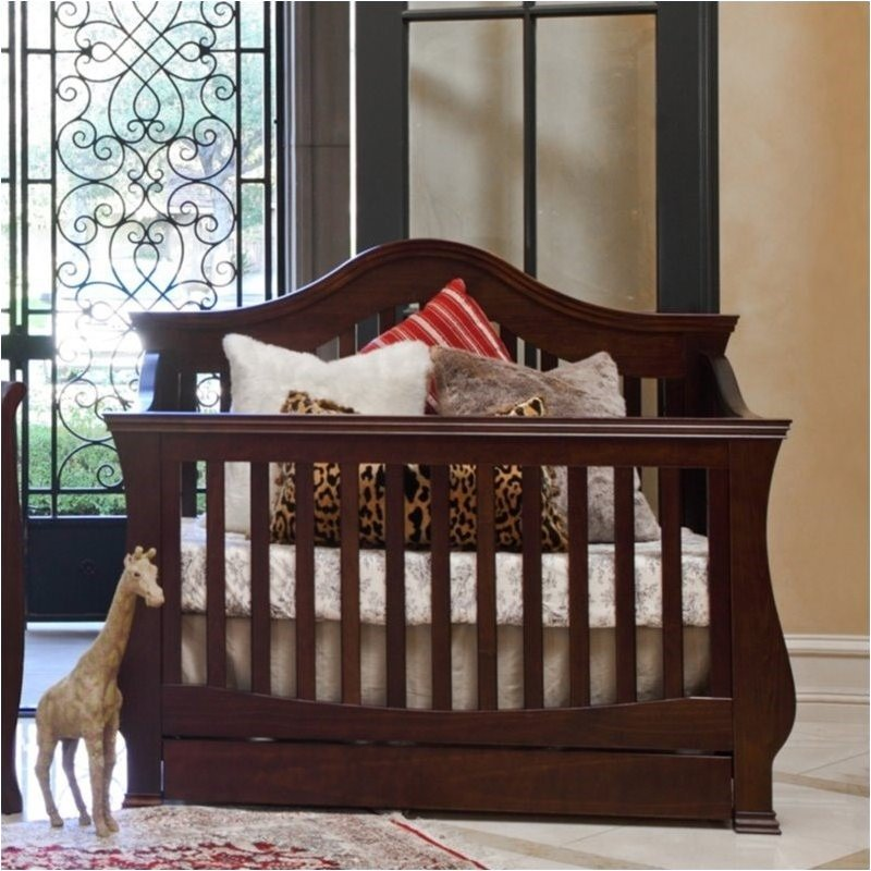 Bowery Hill 4-in-1 Convertible Crib with Toddler Rail in Espresso