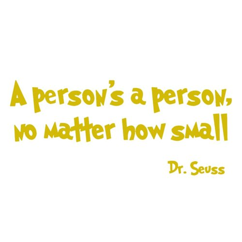 VWAQ A Person's a Person No Matter How Small Dr. Seuss Wall Decal