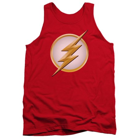 The Flash DC Comics TV Series Flash New Logo Adult Tank Top Shirt - Flash For Adults