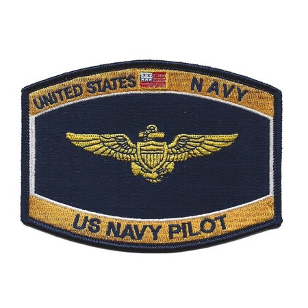 NAVAL AVIATOR WINGS PATCH USN NAVY PILOT -