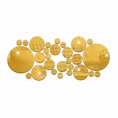 Akoyovwerve 30Pcs/Set 3D Modern Mirror Wall Stickers Gold Acrylic DIY Mural Decal Home Living Room Bedroom Art Decor Removable](Gold Room Decor)