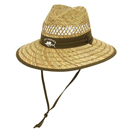 guy harvey mens sailfish straw fishing hat one size green