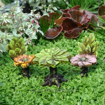 Miniature Blossom Bistro, 3 Piece Set for Miniature Garden, Fairy Garden (Fairy Blossom)