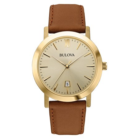 - Bulova Men's Leather Watch