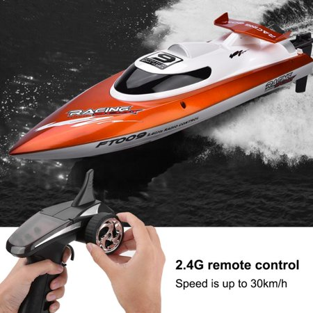 (VBESTLIFE 2.4GHz 4 Channels Remote Control Speedboat Racing RC Speed Boat Toy Model Speedboat Toy RC Boat)