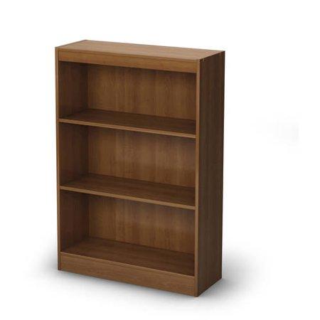 south shore smart basics 3 shelf bookcase multiple colors. Black Bedroom Furniture Sets. Home Design Ideas