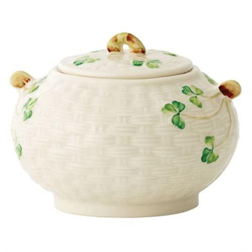 Belleek Shamrock Sugar Bowl by Belleek