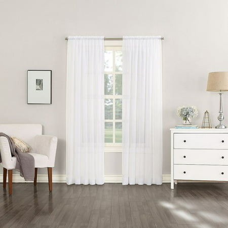 2 Pack: Regal Home Collections Ultra Premium Rod Pocket Sheer Voile Curtains - White