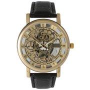 Olivia Pratt Skeleton Leather Watch
