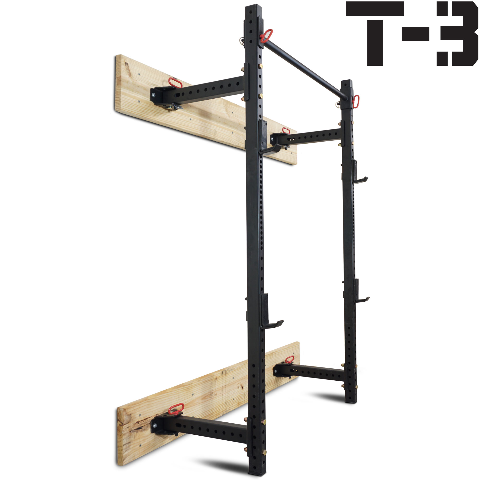 "Titan Fitness T-3 Series Fold Back Power Rack 21.5"" Deep Laser Cut Wall Mount by Titan Fitness"