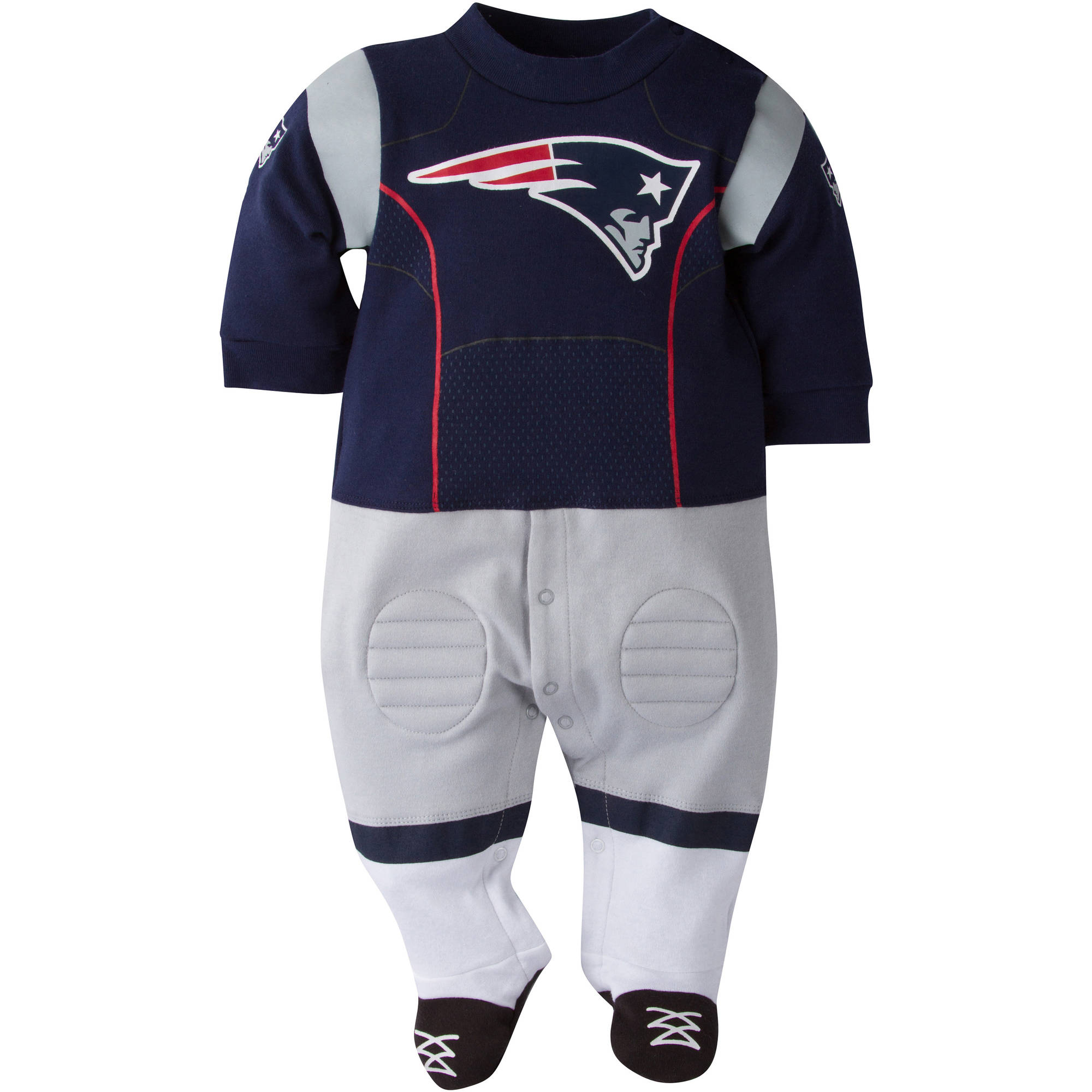 NFL New England Patriots Baby Boys Team Uniform Footysuit with Cleats