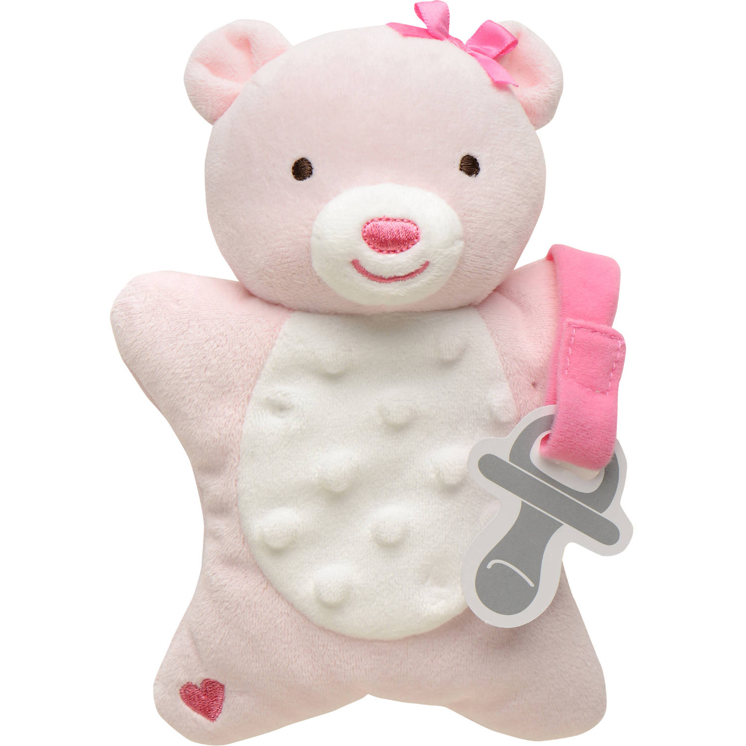 Child of Mine by Carters Boy Bear Security Blanket w/Pacifier Holder