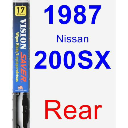 1987 Nissan 200SX Rear Wiper Blade - Vision Saver 1998 Nissan 200sx Wiper