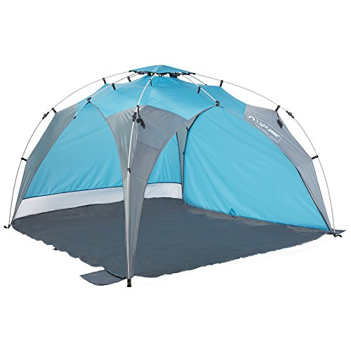 Lightspeed Outdoors Quick Beach Canopy Tent with Removable Side wall Blue/Gray
