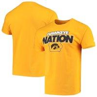 Men's Russell Athletic Gold Iowa Hawkeyes Slogan T-Shirt