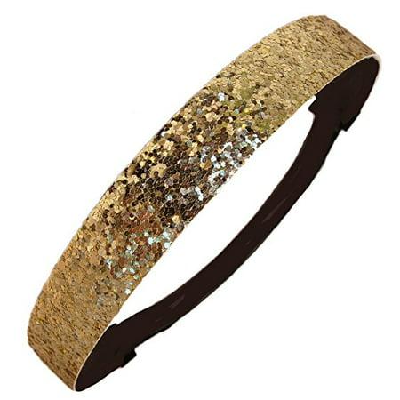Glitter Headband Girls Headband Sparkly Hair Head Band - Gold Glitter Headband