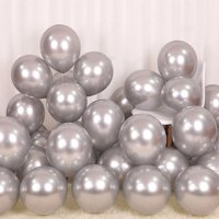 12 inch 50 Pcs Thicken Latex Metallic Chrome Multicolor Balloons Birthday Party Decoration, Helium Shiny Balloons Compatible Wedding Baby Shower Christmas