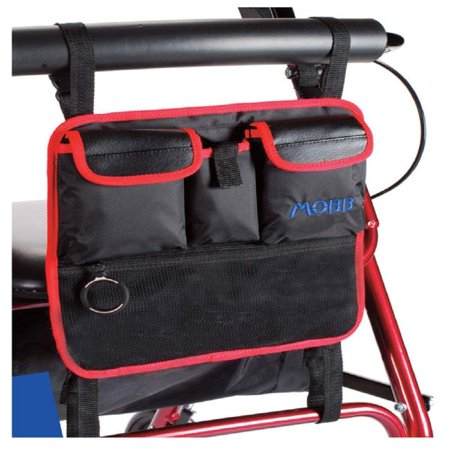 Walker Rollator Organizer Bag For Hands Free Storage By Mobb Fits Folding Rolling Walkers And