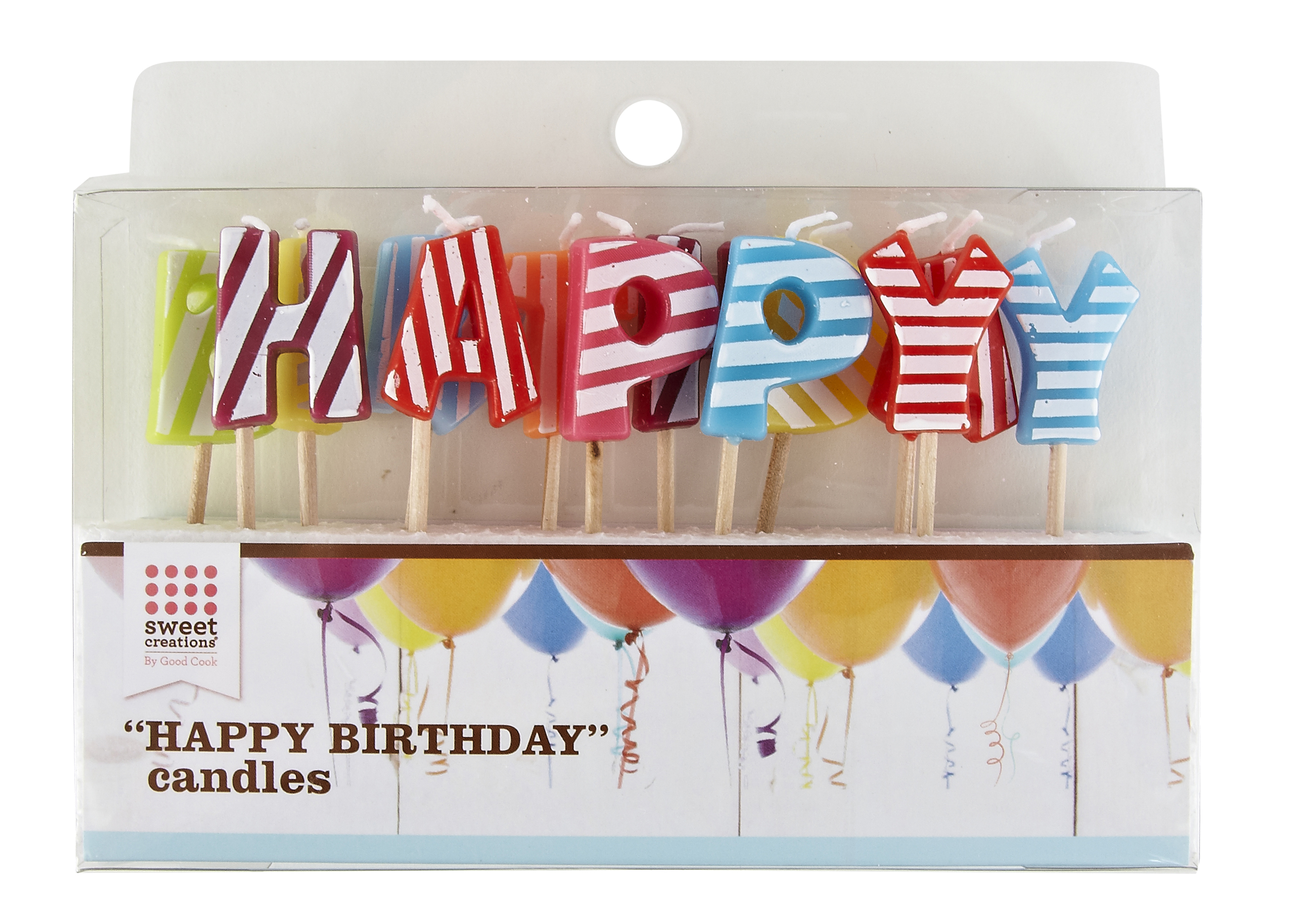 Sweet Creations Happy Birthday Candle Letters 13 Ct