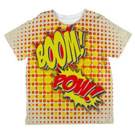 Iu Basketball Halloween (Halloween Boom Pow Vintage Comic Book Costume All Over Toddler T)