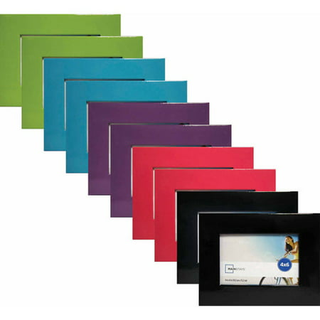 mainstays assorted 4 x 6 paper frames set of 10 asst colors