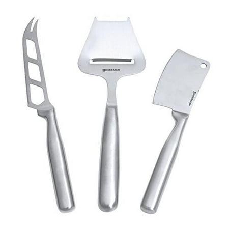 Swissmar Stainless Steel 3-Piece Cheese Knife Set (Swissmar Knives)